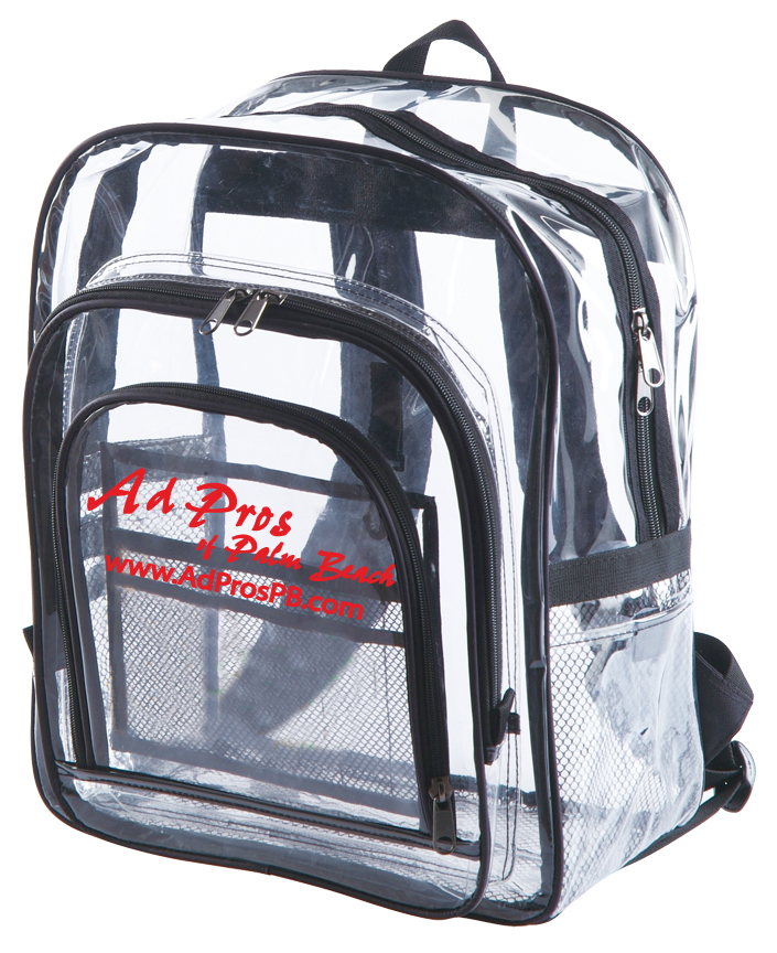 Extra Large Clear Backpacks - Custom Imprinted or Blank