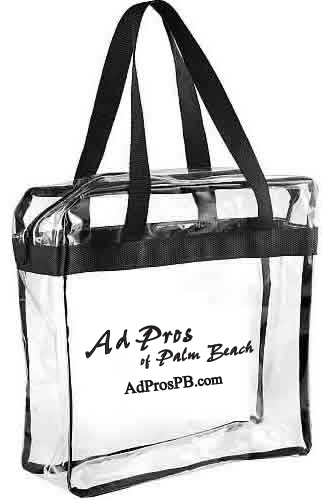 Clear NFL bags, clear zippered NFL and PGA totes, clear bag for all events