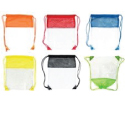 Sling clear & mesh backpacks, assorted colors