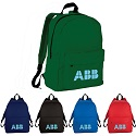 Solid school backpacks in assorted colors