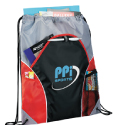 Drawstring cinch bags with front pocket