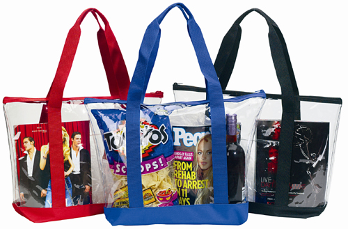 Custom Printed Clear Zippered Tote