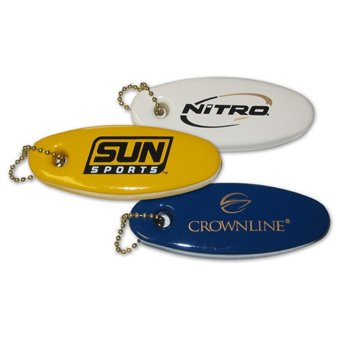 Vinyl Coated Custom Printed Floating Key Tags