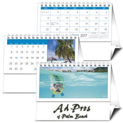 12 Month Custom Tent Calendar  sc 1 st  Ad Pros of Palm Beach & Custom Printed Promotional 2018 Calendars Day Planners Padfolios