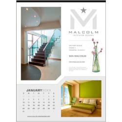 Custom 12-Sheet Executive Custom Printed Promotional Calendars