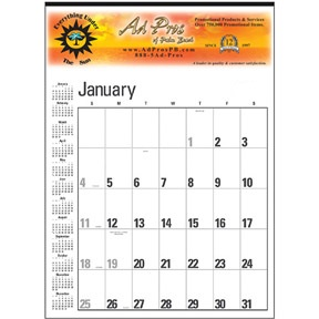 Custom Contractor Calendar with Your Own Pictures