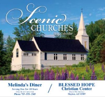 Custom Printed Promotional Scenic Church Calendars