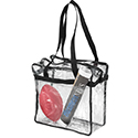 Custom Printed Clear Totes. Including size 12x12x6 Clear Totes, Clear Briefcases, Clear Coolers and Clear Purses.