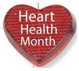 Promotional items for Heart Health Month