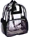 Large selections of clear backpacks