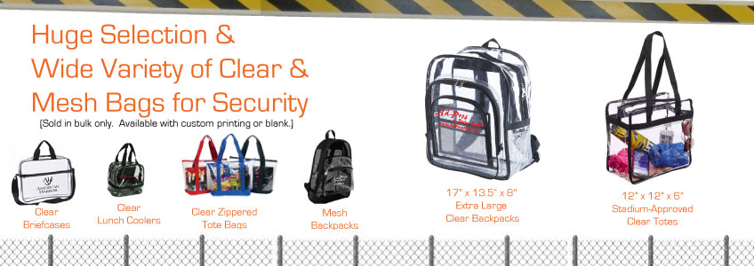 Clear Backpacks and Clear Totes
