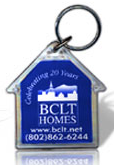 Custom Printed House Shape Acrylic Key Tags