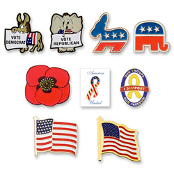 Stock Patriotic & Political Pins