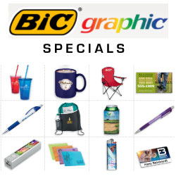 Save on quality BIC© pens and other promos for giveaways