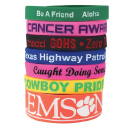 Custom Silicone Awareness Bracelets and Custom Silicone Awareness Wrist Bands