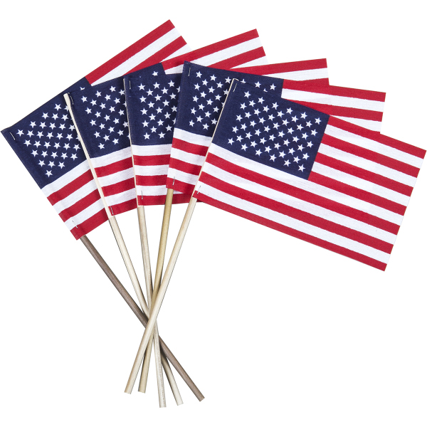 Custom Printed USA Wood Stick Flags