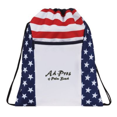 Stars & Stripes Drawstring Totes